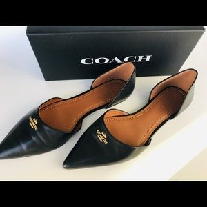 Pointed toe Coach flat. Size 10
